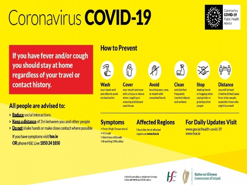 New Covid Restrictions announced by Government for January 2021